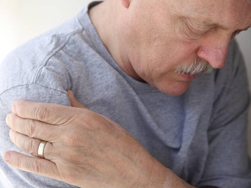 man with arthritis