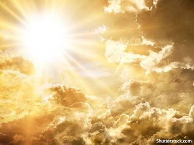 heavenly clouds sunbeams
