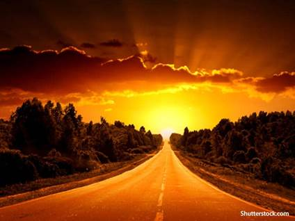 nature road sunset