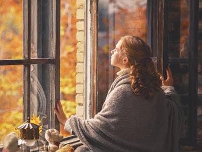 Open Window in Fall