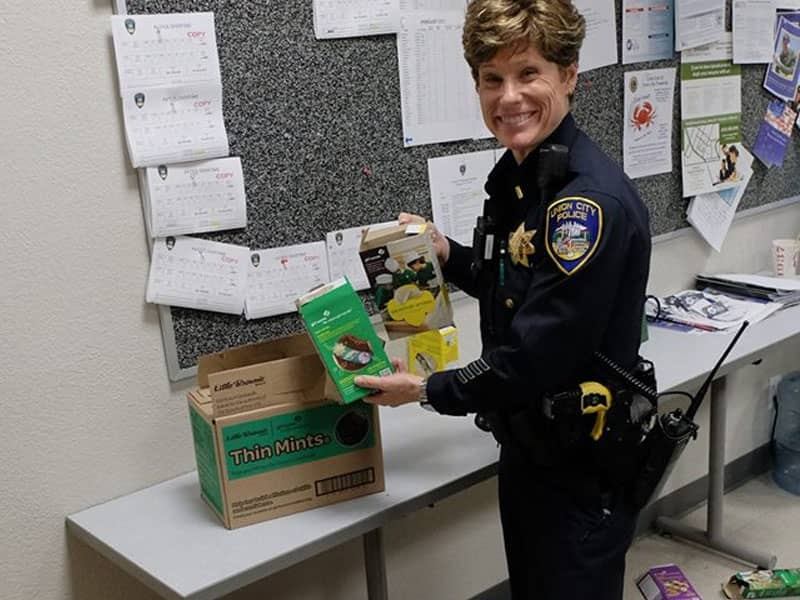 Girl Scout Robbery Cop
