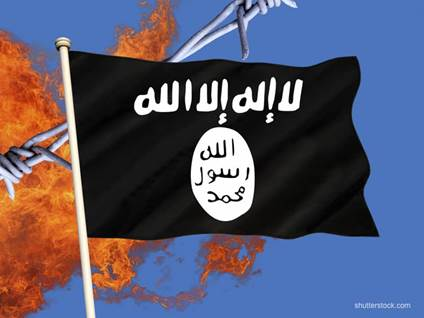 ISIS Flag Fire