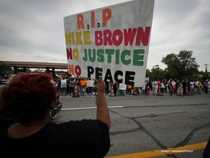 Protester Sign - Mike Brown