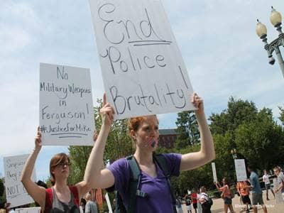 Protestor Sign - Police Brutality