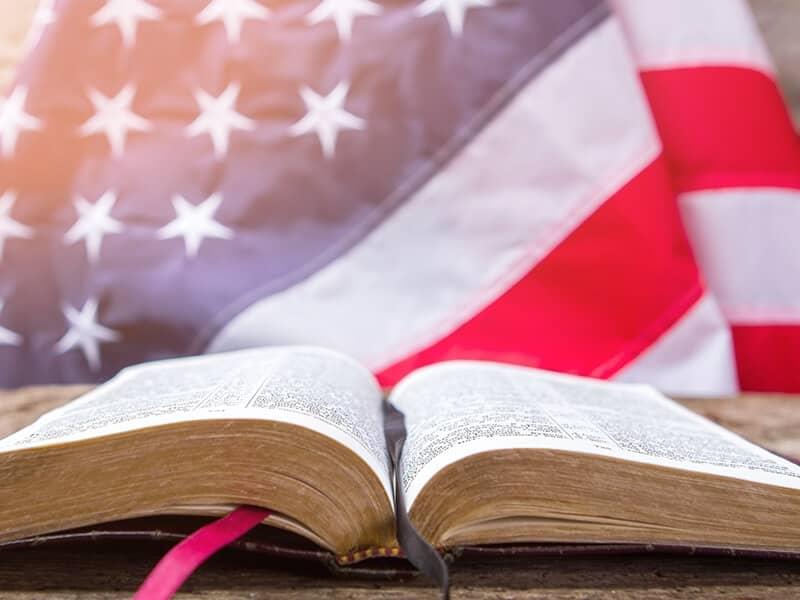 flag and Bible