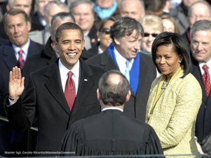 US President Barack Obama Oath Office