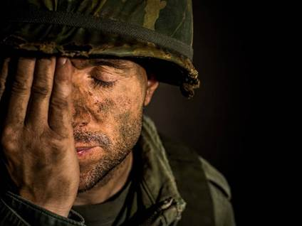 Depressed Soldier