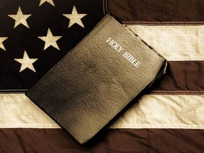 Bible on Flag