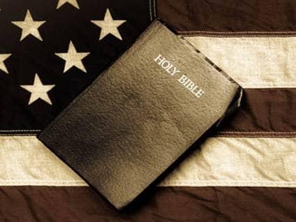 Bible on Flag