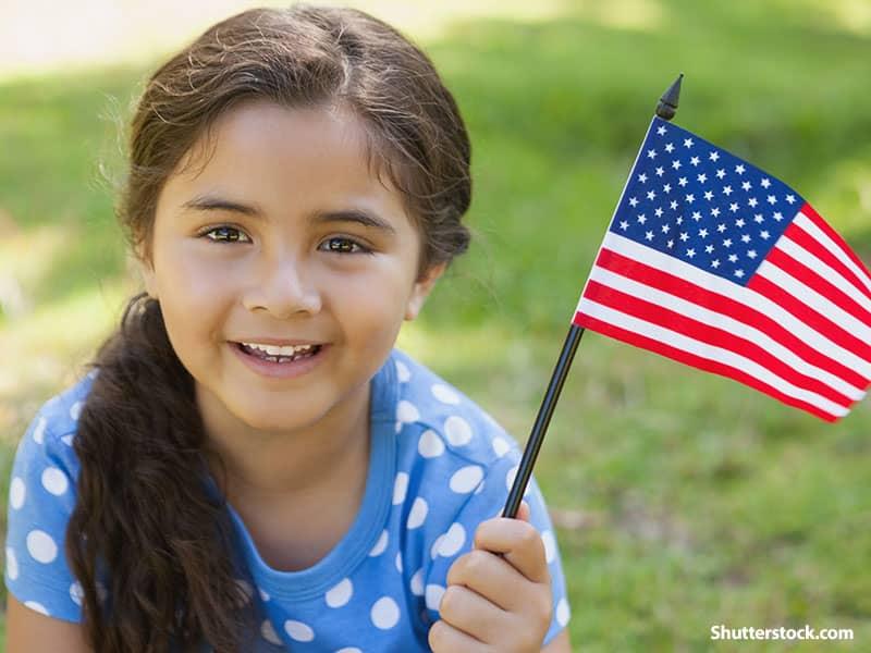 people girl flag