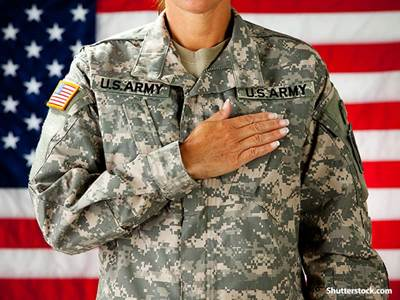 people woman soldier salute