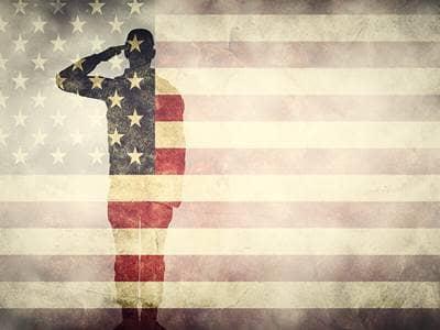 Saluting Flag