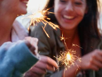 people sparklers