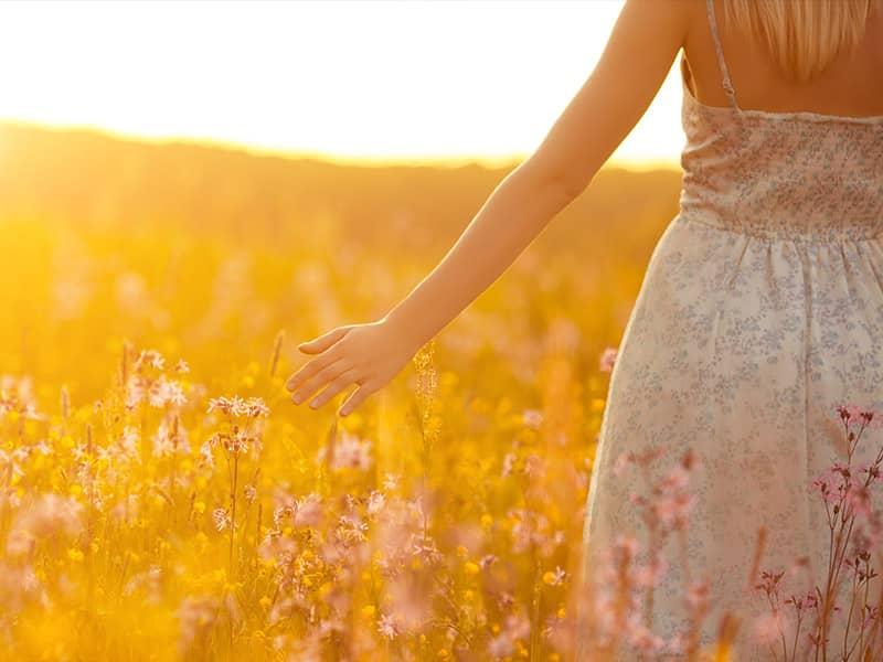 Woman in a field.