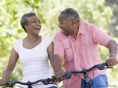 people couple bikes