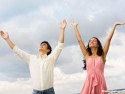 people couple praise