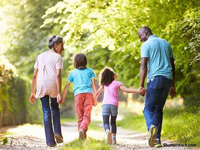 people family walk