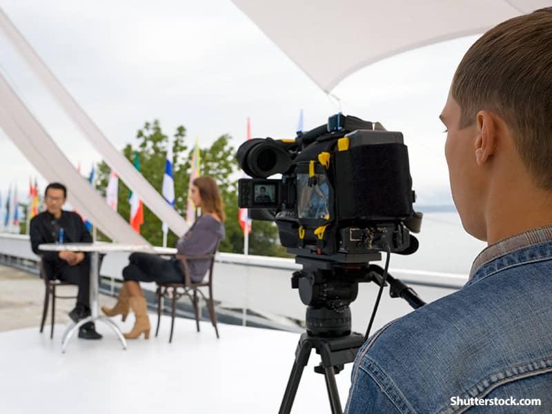 people shooting video