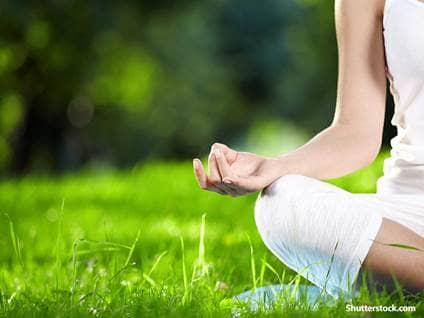 people woman meditation