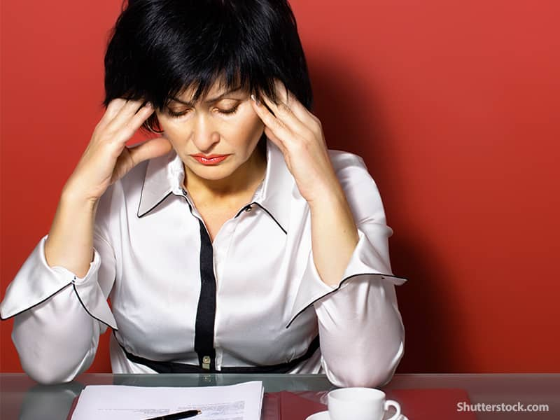 people woman stressed out
