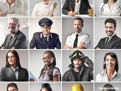 people collage of jobs