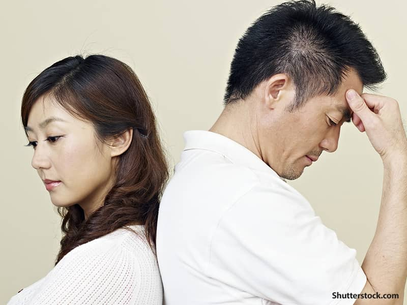 people couple stress