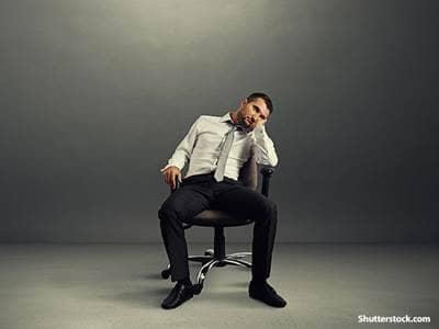 people depressed business man