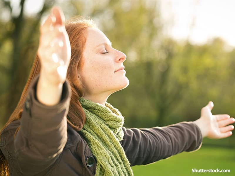 people woman praise outdoors