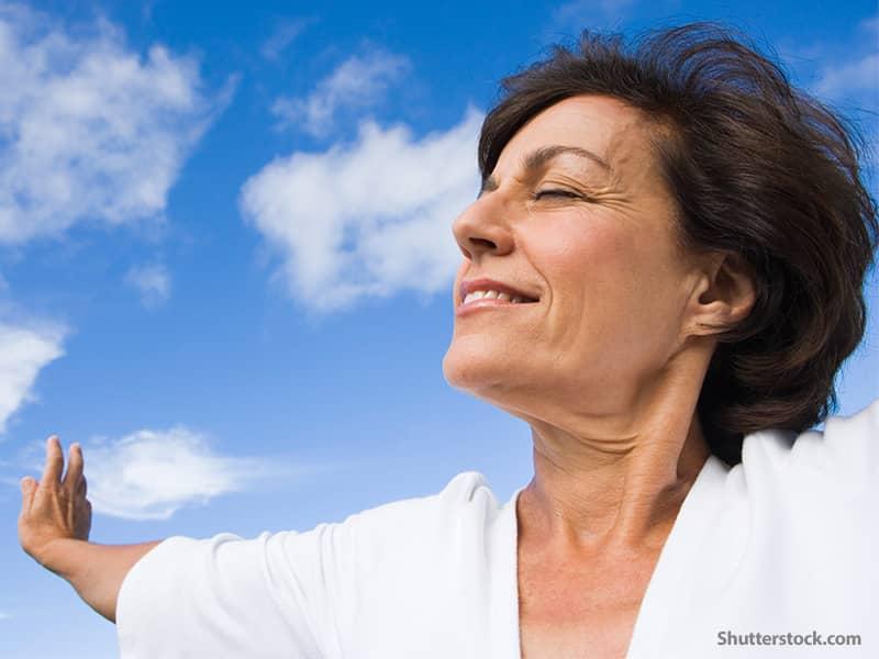 spiritual woman relaxing