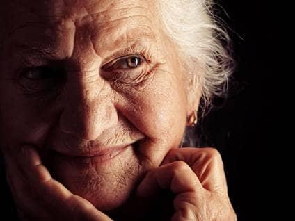 people elderly woman smiling