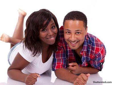 people happy african american couple