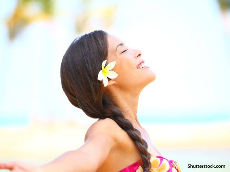 people happy woman beach