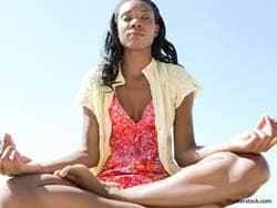 people woman meditating