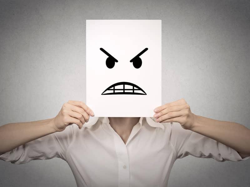 negative face