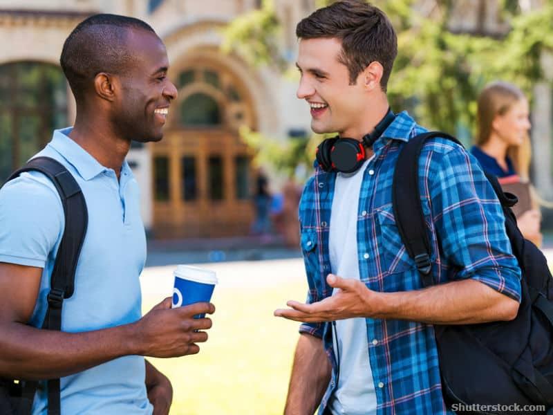 guy, friend, talking
