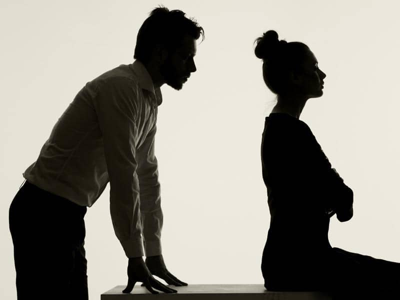 Couple not talking