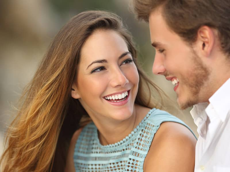 couple laughing