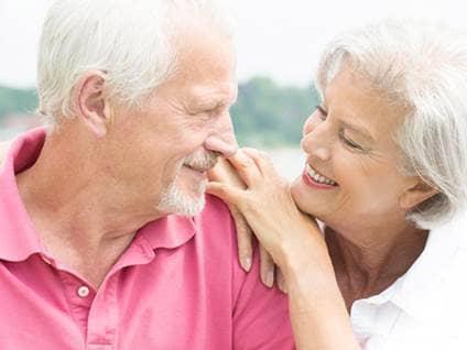 appy elderly couple