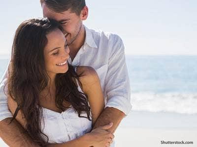 people romatic couple beach