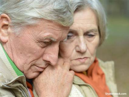 people sad elder couple