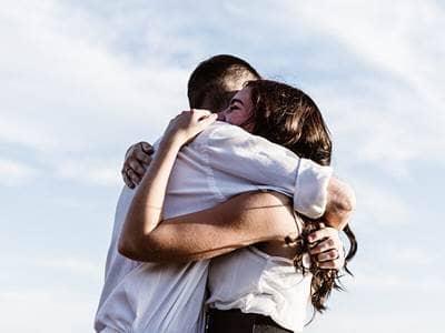 outside hug
