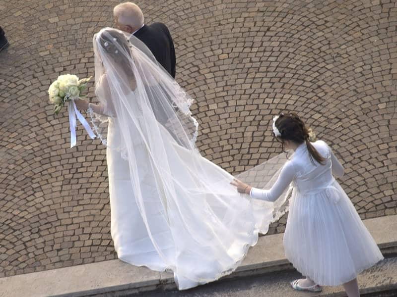 bride walking down aisle