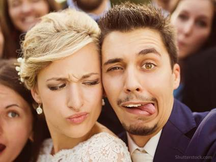 Funny Bride and Groom