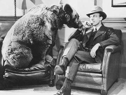 Man with Bear