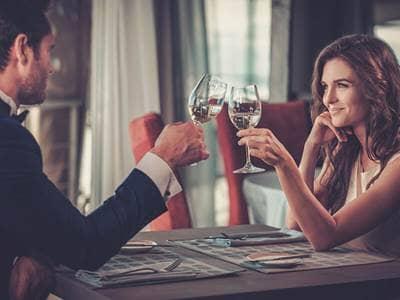 dinner date cheers wine