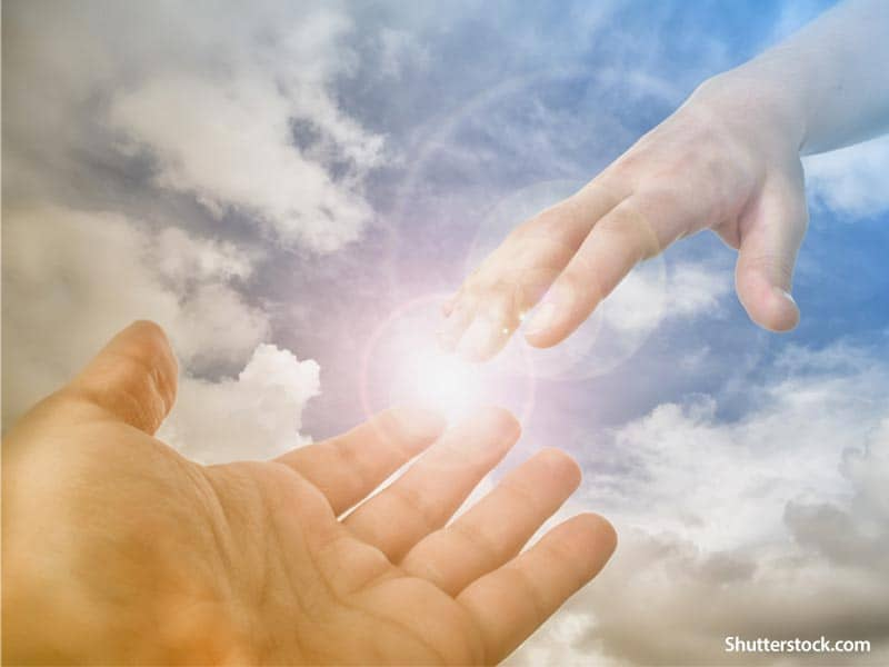 Faith God reaching
