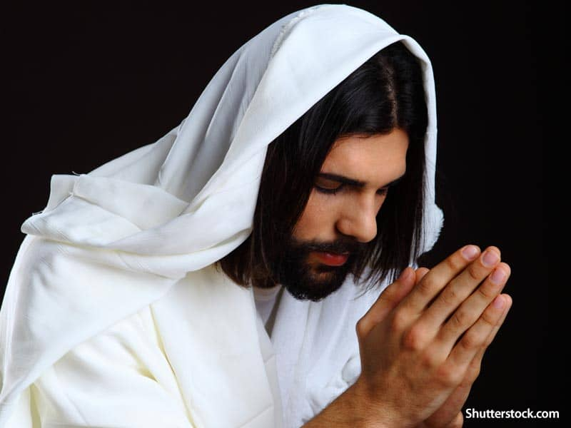 Jesus praying