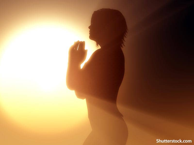 people woman praying sunlight