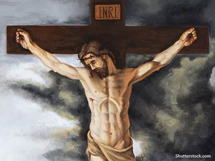 religion jesus cross painting