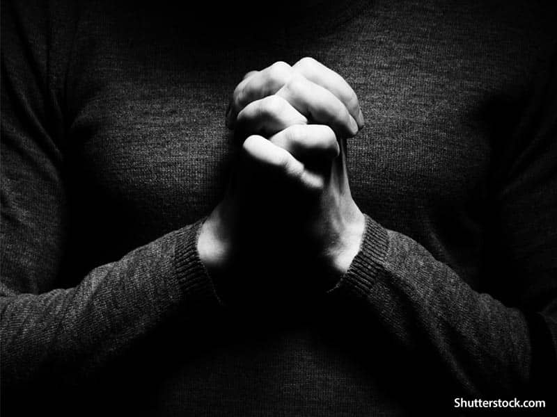 religious man praying